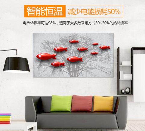 墙体上的艺术-碳纤维墙暖画