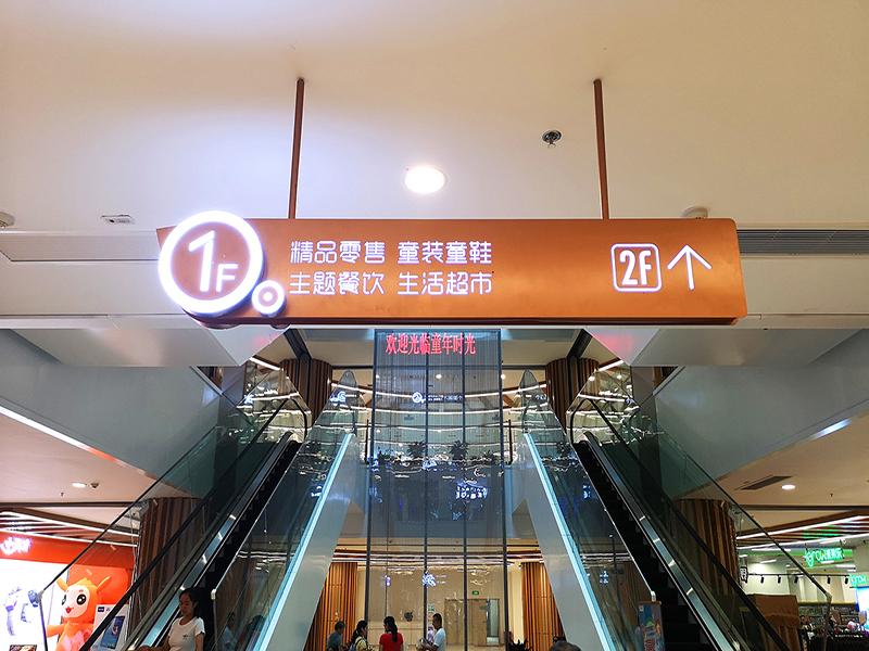 商场楼层导视灯箱
